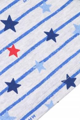 Синий лонгслив с принтами Miki House 3018160166