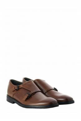 Двойные коричневые монки из кожи Strellson 585160784