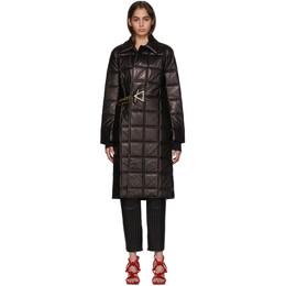 Bottega Veneta Black Lambskin Quilted Coat 192798F06400102GB