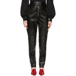 MSGM Black Biker Trousers 192443F08700304GB