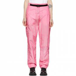 MSGM Pink Belted Loose Fit Trousers 192443F08700403GB