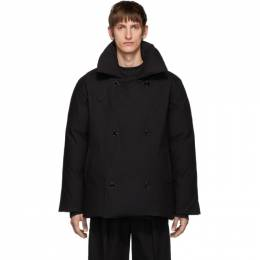 Raf Simons Black Down Double-Breasted Coat 192287M17800203GB