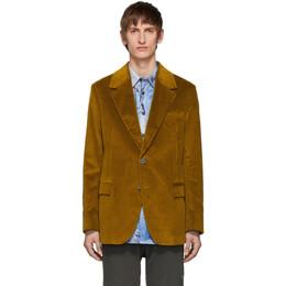 Acne Studios Yellow Corduroy Suit Blazer 192129M19500301GB