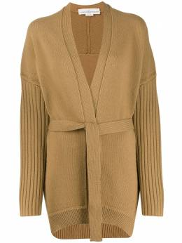 Golden Goose - textured-knit belted cardigan WP980A09569583300000