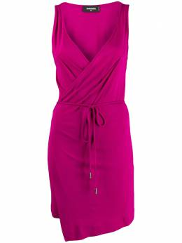 Dsquared2 - belted waist wrap dress CV6606S0335895690965