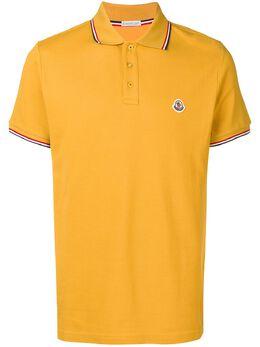 Moncler - рубашка-поло с полосками на воротнике 56668555693535368000