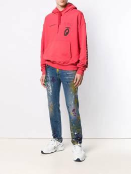 Off-White - джинсы с эффектом разбрызганной краски A660R99C306098566956