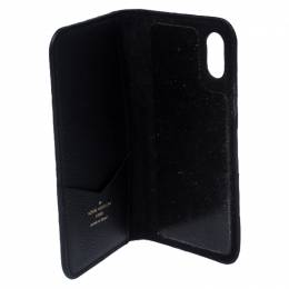 Louis Vuitton Black Monogram Eclipse iPhone X Folio Case