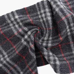 Burberry Dark Gray/Gray Wool Check Muffler 237595