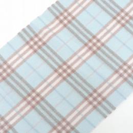 Burberry Light Blue Nova Check Cashmere Flannel Muffler 237571