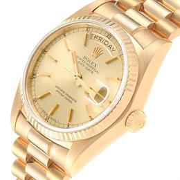 Rolex Champagne 18K Yellow Gold President Day-Date 18038 Men's Wristwatch 36MM 237841