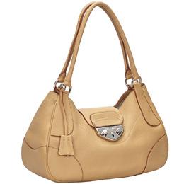 Prada Brown Leather Satchel 234208