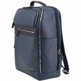 Piquadro Navy Blue Leather Backpack 157847
