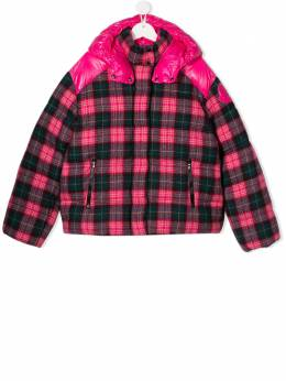 Moncler Kids - TEEN tartan-print padded jacket 058555ABF55695605395