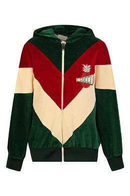 Спортивная куртка из бархата с капюшоном Gucci Kids 1256160315