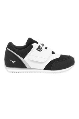 Черно-белые кроссовки на липучке Miki House 3018160263