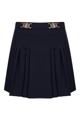 Классическая школьная юбка в складку черного цвета Gucci Kids 1256160340