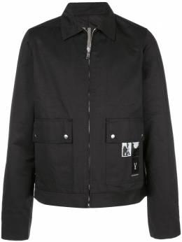 Rick Owens DRKSHDW - photo patch shirt jacket 9F6339MUEH3956090900