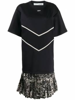 Off-White - платье-футболка вязки интарсия B930F99F856599669955