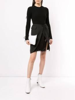 Mm6 Maison Margiela - двухслойная юбка с разрезом спереди MA6363S5009895533690