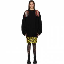 Raf Simons Black Oversized Patches Sweater 192287F09600901GB