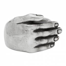 Ann Demeulemeester Silver Hand Ring 192378M14700101GB