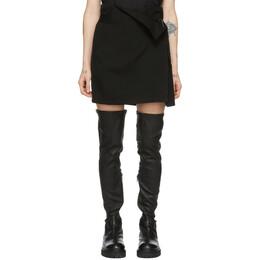 Ann Demeulemeester Black Wool Wrap Skirt 192378F09000203GB