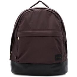 Paul Smith Burgundy Canvas Backpack 192260M16601001GB