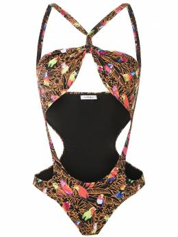 Amir Slama - cut out printed swimsuit 59955933530000000000