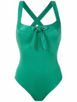 Amir Slama - front tie detail ribbed swimsuit 30955933360000000000