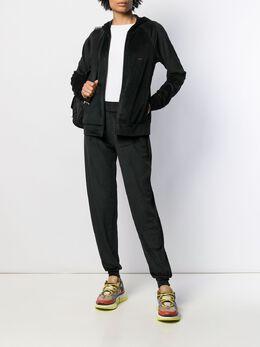 Emporio Armani - velour zipped hoodie 3399A066955999590000