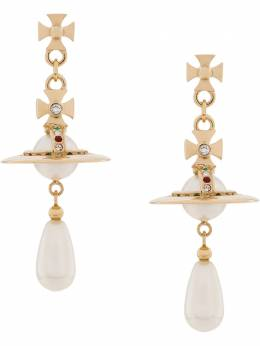 Vivienne Westwood - Orb pearl drop earrings 36660956398980000000