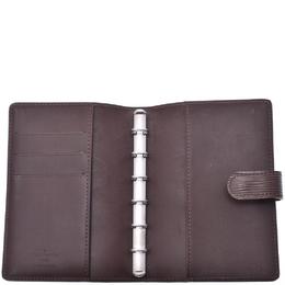 Louis Vuitton Mocha Epi Leather Small Ring Agenda Cover