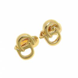 Dior Gold CD Logo Clip On Stud Earrings 238191