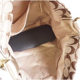 Coach Beige Signature Canvas Shoulder Bag 238362