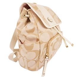 Coach Beige Signature Canvas Backpack 238367