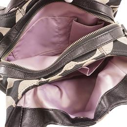 Coach Black Signature Canvas Shoulder Bag 238370