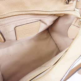 Coach Beige Crossgrain Leather Crosby Carryall Bag 238348