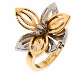 Fendi Two Tone Floral Ring M 236183