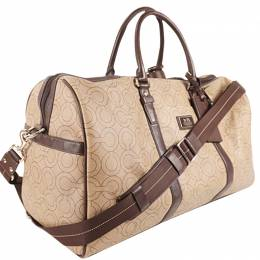 Coach Beige Canvas And Leather Boston Bag 238349