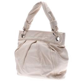 Coach White Leather Shoulder Bag 238395