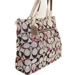 Coach Gray Signature Canvas Tote Bag 238399