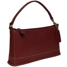 Coach Red Leather Shoulder Bag 238405