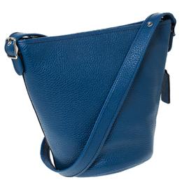 Coach Blue Pebble Leather Abby Crossbody Bag 234647