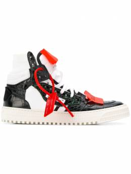 Off-White - combined hi-top sneakers A990E988666969666930