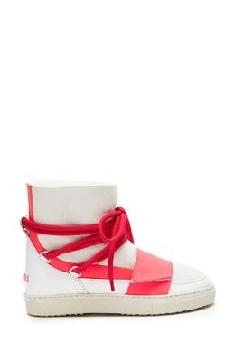 Белые ботинки с контрастными шнурками Inuikii 1261153988