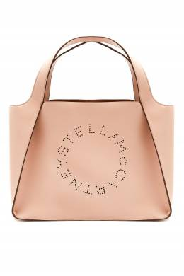 Сумка-тоут Stella Logo розового цвета Stella McCartney 193161173