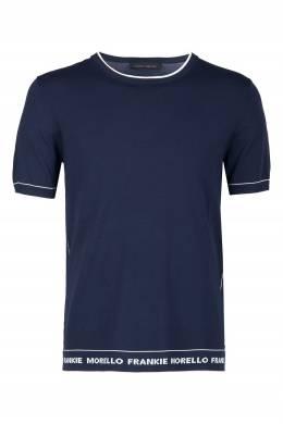 Темно-синяя футболка из вискозы Frankie Morello 1482161515
