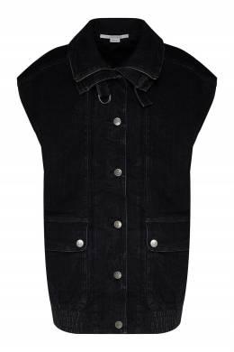 Серый жилет с накладными карманами Stella McCartney 193161116
