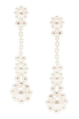 Серьги из искусственного жемчуга в викторианском стиле Simone Rocha 250161277